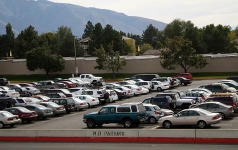 Parking lot empty spaces