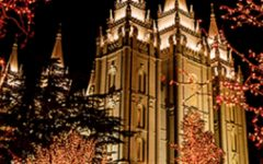 Temple square winter festivities
