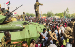 Sudan military overthrows president, protests continue