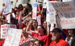 SLC teachers walkout for education funding