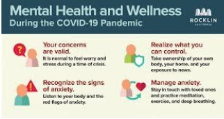 A diagram of recognizing and dealing with your mental health during COVID-19.