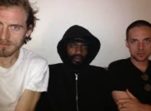 From left to right, Zach Hill, MC Ride, and Andy Morin