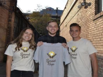 (Maddie, Parker, and Hayden Wheeler at the start of their organization)