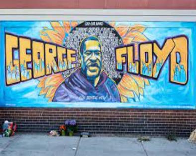 A mural in Minneapolis by Xena Goldman, Cadex Herrera, Greta McLain, Niko Alexander, and Pablo Herandez.
